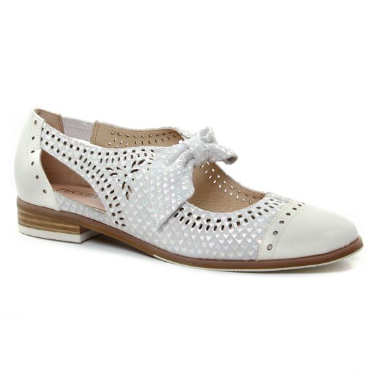 Chaussures À Lacets Fugitive Hoya Blanc, vue principale de la chaussure femme