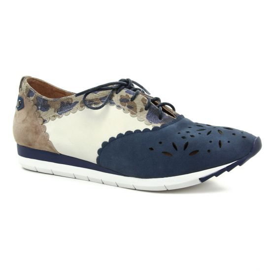 Chaussures À Lacets Mamzelle Elman Navy, vue principale de la chaussure femme
