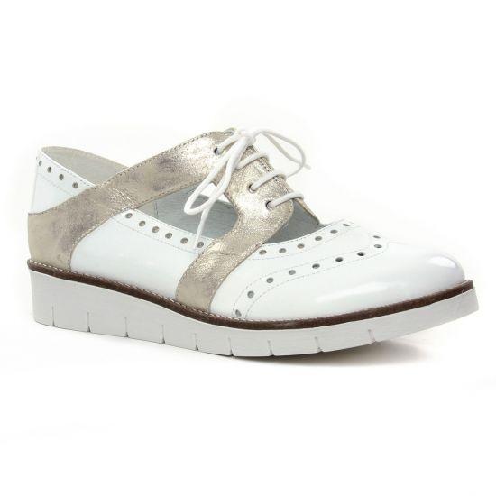 Chaussures À Lacets Geo Reino Zanbou Blanc, vue principale de la chaussure femme