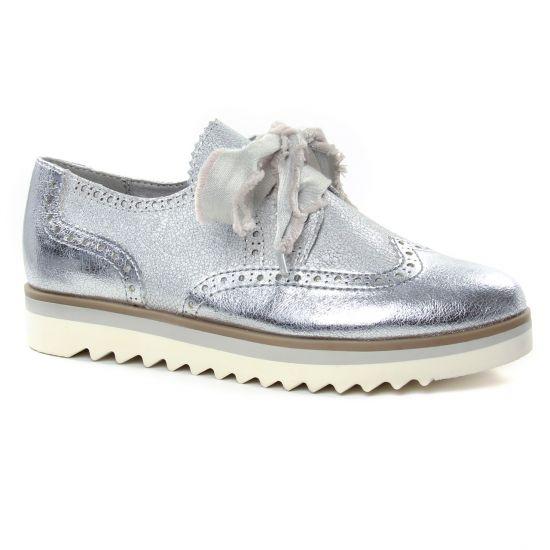 Chaussures À Lacets Marco Tozzi 23705 Silver Comb, vue principale de la chaussure femme