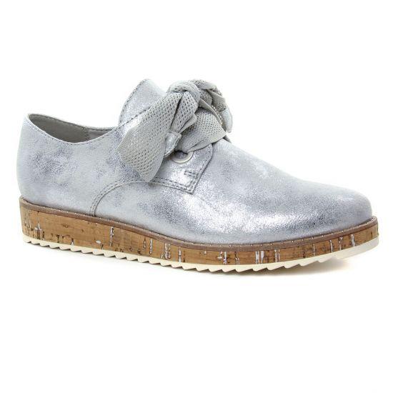 Chaussures À Lacets Marco Tozzi 23727 Grey Metal, vue principale de la chaussure femme