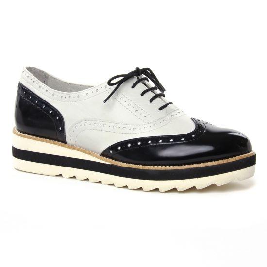 Chaussures À Lacets Tamaris 23717 White Black, vue principale de la chaussure femme
