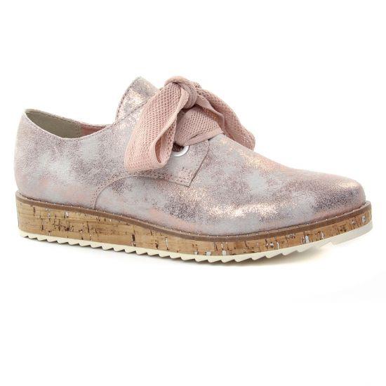 Chaussures À Lacets Marco Tozzi 23727 Rose Metal, vue principale de la chaussure femme