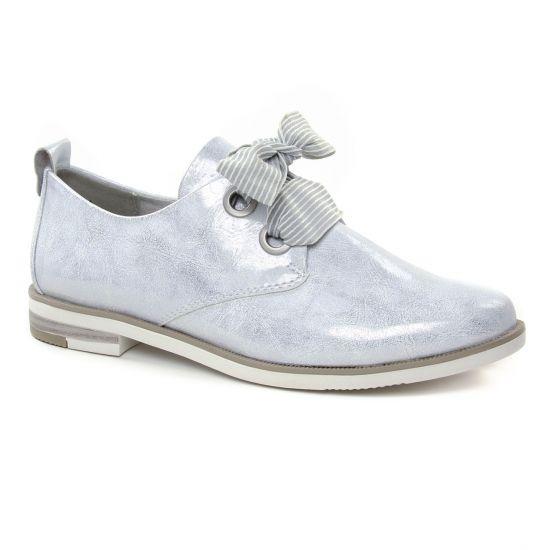 Chaussures À Lacets Marco Tozzi 23201 White Metal, vue principale de la chaussure femme