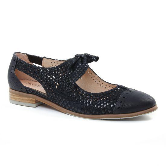 Chaussures À Lacets Fugitive Hoya Noir, vue principale de la chaussure femme