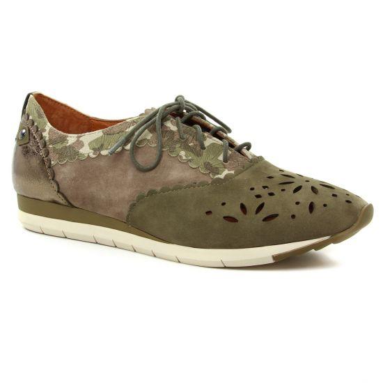 Chaussures À Lacets Mamzelle Elman Kaki, vue principale de la chaussure femme