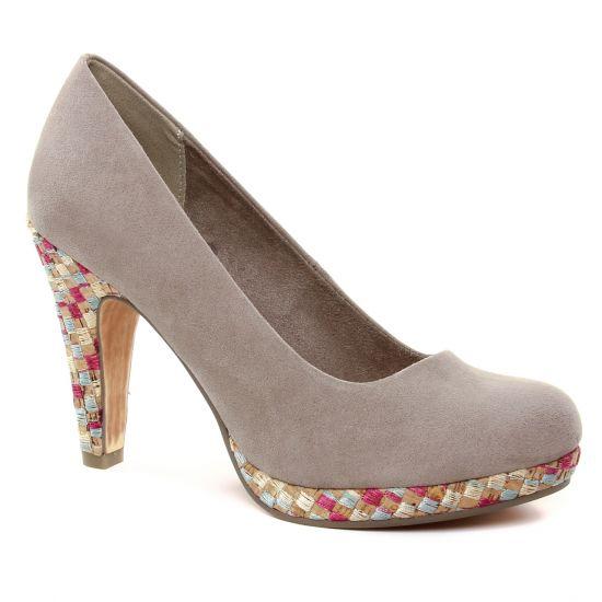 Escarpins Marco Tozzi 22423 Taupe Comb, vue principale de la chaussure femme