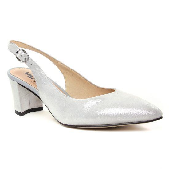 Escarpins Fugitive Palmas Metal Grey, vue principale de la chaussure femme