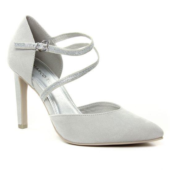 Escarpins Marco Tozzi 24400 Grey Comb, vue principale de la chaussure femme