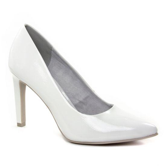 Escarpins Marco Tozzi 22415 White Patent, vue principale de la chaussure femme
