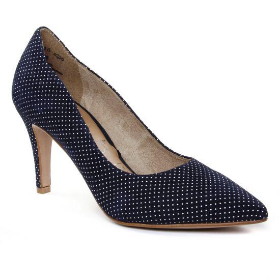 cf5bc732dff1c0 Escarpins Tamaris 22494 Navy, vue principale de la chaussure femme. escarpins  bleu marine blanc ...