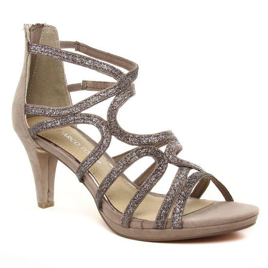Escarpins Marco Tozzi 28373 Taupe Comb, vue principale de la chaussure femme