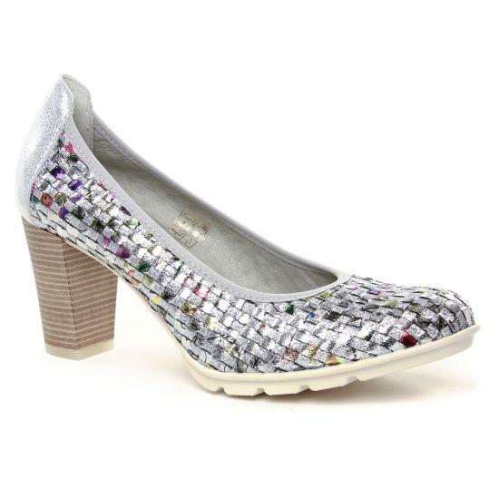 Escarpins Dorking Rubi D7736 Plata, vue principale de la chaussure femme