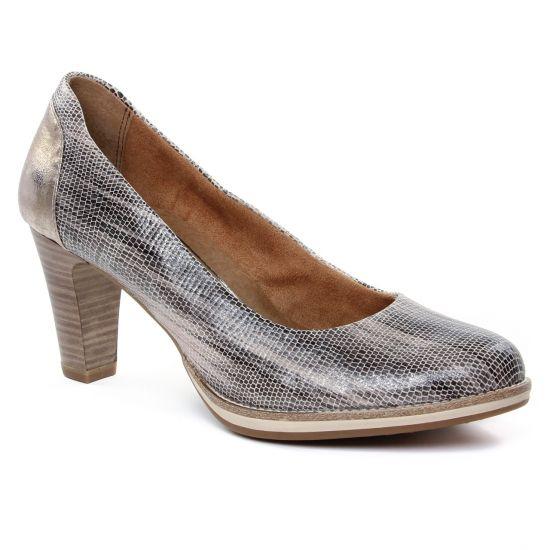 Escarpins Tamaris 22485 Platinium, vue principale de la chaussure femme