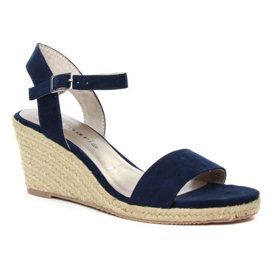 Espadrilles Tamaris 28300 Navy, vue principale de la chaussure femme