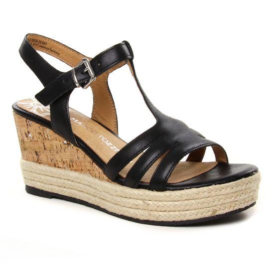 Espadrilles Marco Tozzi 28336 Black, vue principale de la chaussure femme