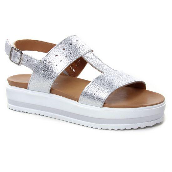 Nu Pieds Et Sandales Scarlatine 44562 C Silver, vue principale de la chaussure femme