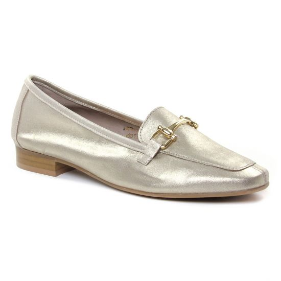 Mocassins Scarlatine 11029 X Platine Or, vue principale de la chaussure femme