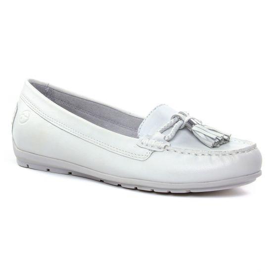 Mocassins Tamaris 24602 White, vue principale de la chaussure femme