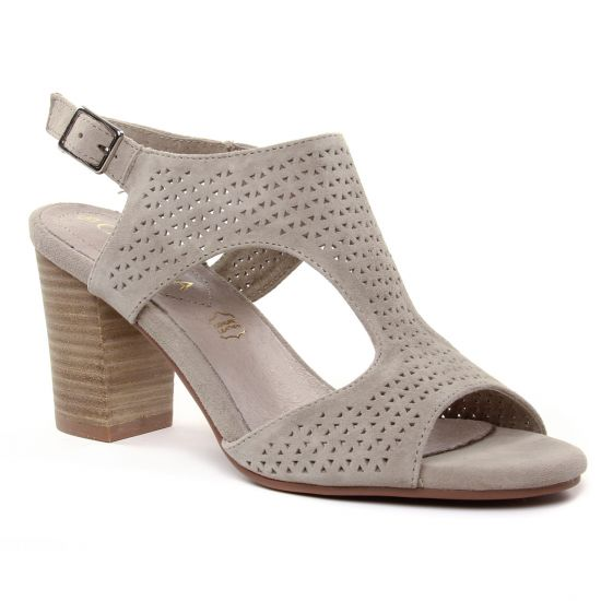 Nu Pieds Et Sandales Carmela 06667 Taupe, vue principale de la chaussure femme