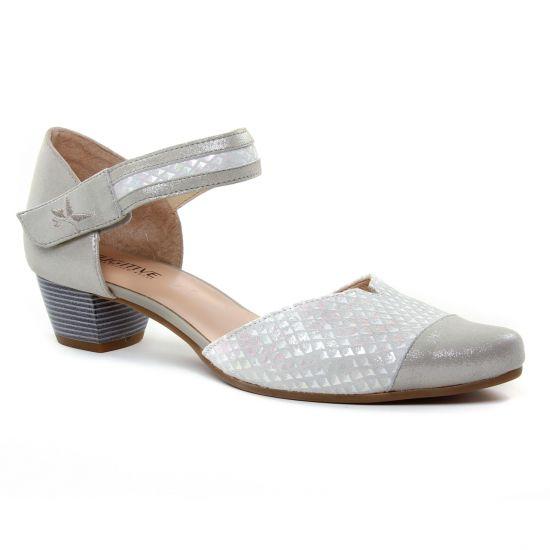 Nu Pieds Et Sandales Fugitive Carli Metal Grey, vue principale de la chaussure femme