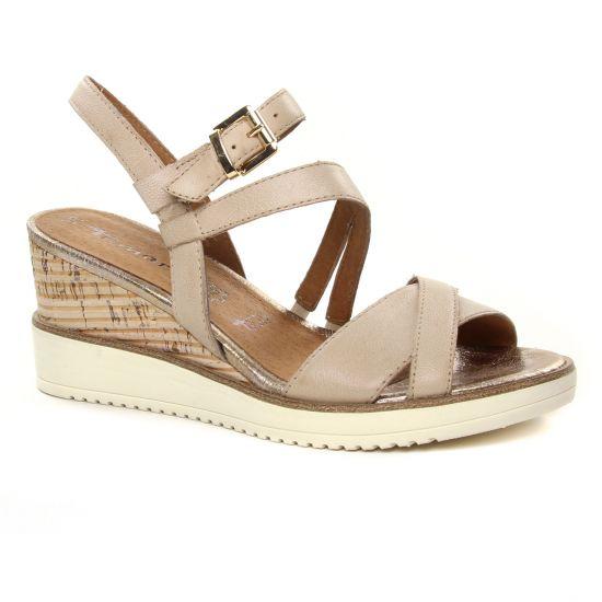 Nu Pieds Et Sandales Tamaris 28349 Shell, vue principale de la chaussure femme