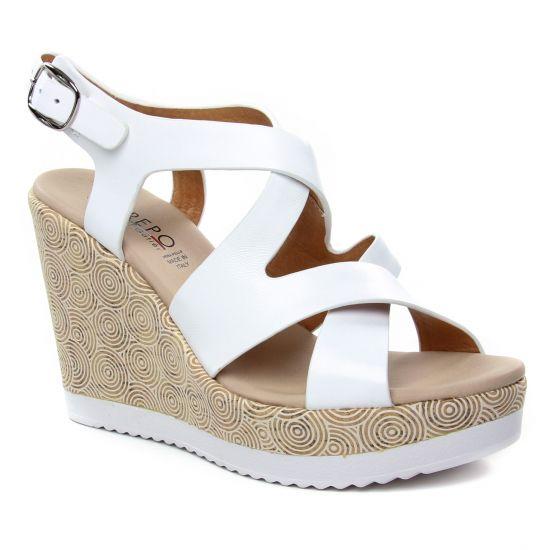 Nu Pieds Et Sandales Repo Phil Gatier 52530 Blanc, vue principale de la chaussure femme