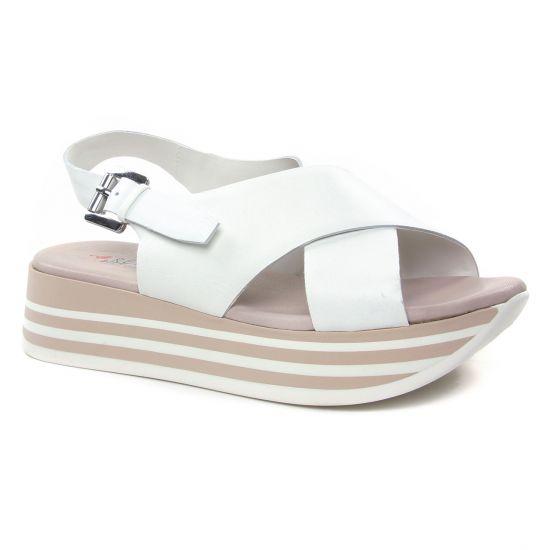 Nu Pieds Et Sandales Repo Phil Gatier 63261 Blanc, vue principale de la chaussure femme