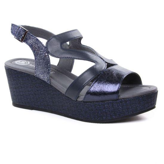 Nu Pieds Et Sandales Mamzelle Pablo Navy, vue principale de la chaussure femme