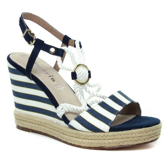 Espadrilles Tamaris 28344 Navy, vue principale de la chaussure femme