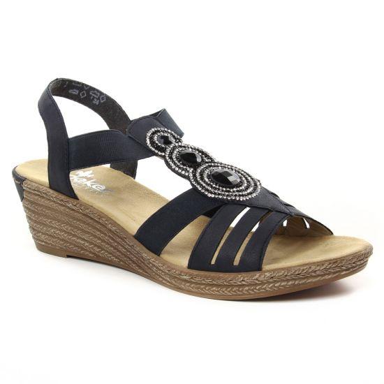 5a64faae8d49bf Nu Pieds Et Sandales Rieker 62459-14 Pacifik, vue principale de la  chaussure femme