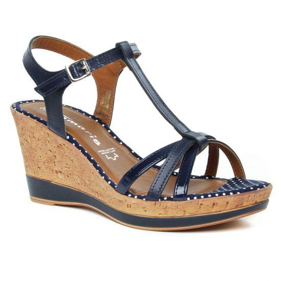 Nu Pieds Et Sandales Tamaris 28347 Navy, vue principale de la chaussure femme