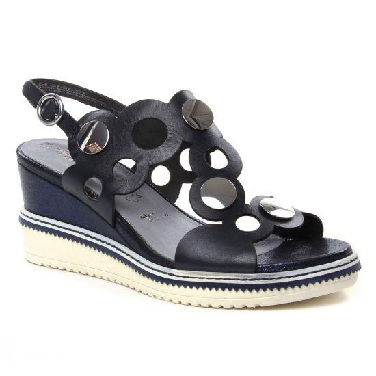 Nu Pieds Et Sandales Tamaris 28351 Navy, vue principale de la chaussure femme