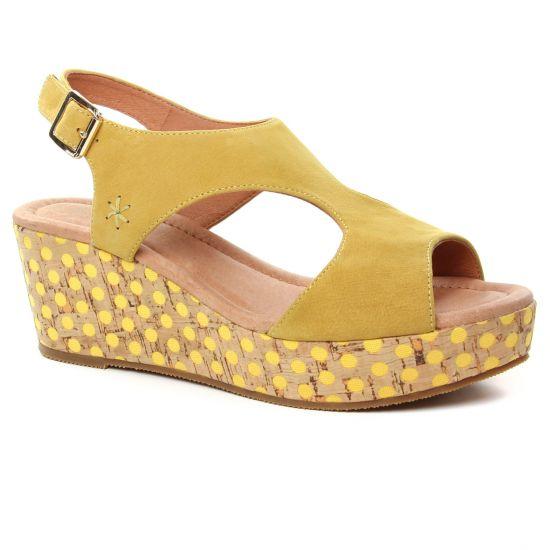 Nu Pieds Et Sandales Mamzelle Perlo Jaune, vue principale de la chaussure femme