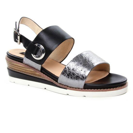 Nu Pieds Et Sandales Fugitive Bayane Acier, vue principale de la chaussure femme