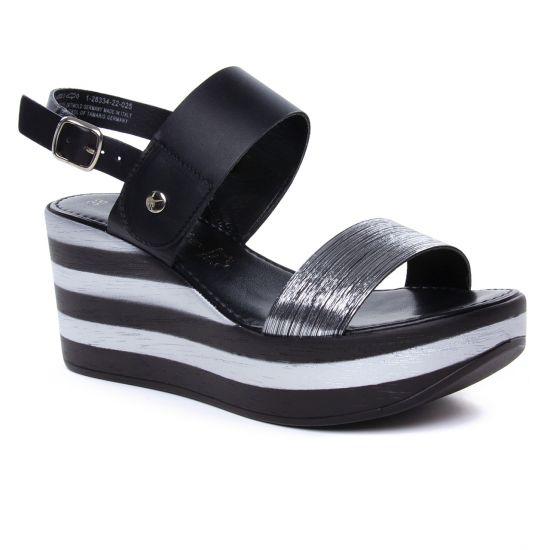 Nu Pieds Et Sandales Tamaris Biona 28334 Black, vue principale de la chaussure femme