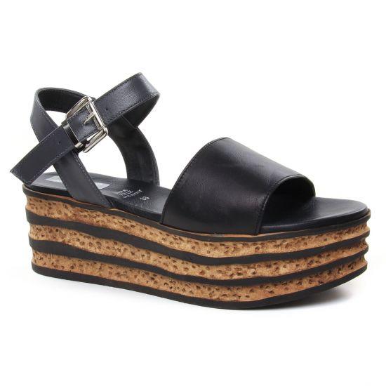 Nu Pieds Et Sandales Repo Phil Gatier 92202 Noir, vue principale de la chaussure femme