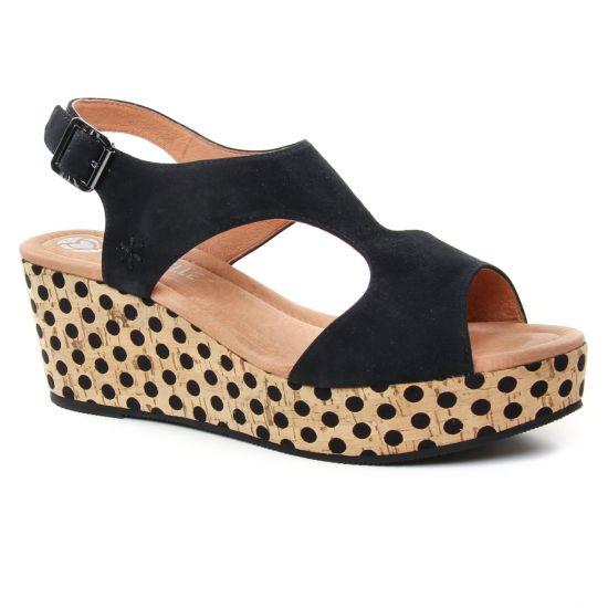 035d36f64c9295 Nu Pieds Et Sandales Mamzelle Perlo Noir, vue principale de la chaussure  femme
