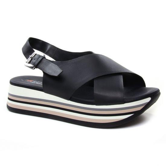 Nu Pieds Et Sandales Repo Phil Gatier 63261 Noir, vue principale de la chaussure femme