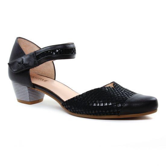 Nu Pieds Et Sandales Fugitive Carli Nappa Noir, vue principale de la chaussure femme