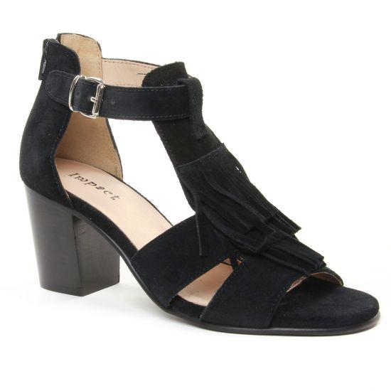 Nu Pieds Et Sandales Impact 379 Black, vue principale de la chaussure femme