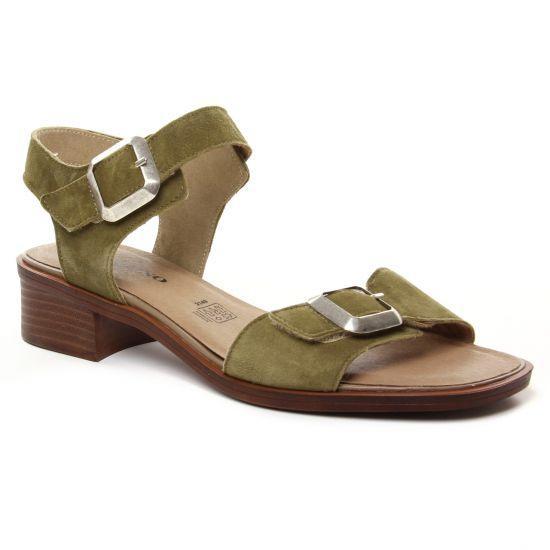 Nu Pieds Et Sandales Geo Reino Polo Kaki, vue principale de la chaussure femme