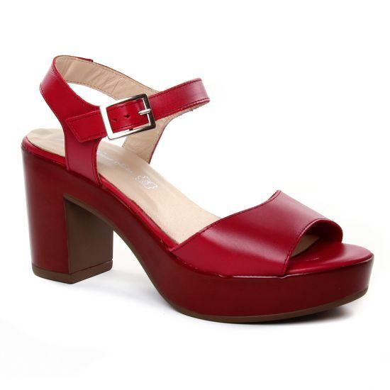 Nu Pieds Et Sandales Maria Jaen 8580 Rojo, vue principale de la chaussure femme