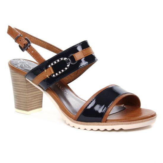 Nu Pieds Et Sandales Marco Tozzi 28704 Navy Comb, vue principale de la chaussure femme