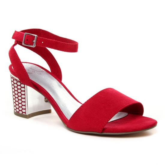 Nu Pieds Et Sandales Marco Tozzi 28311 Red, vue principale de la chaussure femme