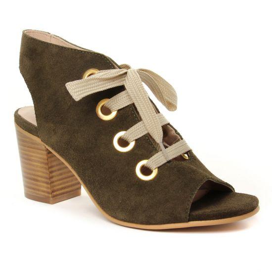 Nu Pieds Et Sandales Impact 815 Kaki, vue principale de la chaussure femme