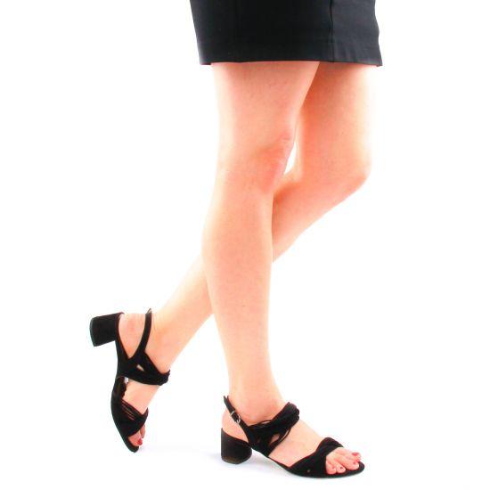 Tamaris 28204 Black | nu pied trotteurs noir printemps été