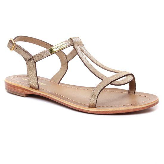 Nu Pieds Et Sandales Les Tropeziennes Hamat Or Irise, vue principale de la chaussure femme