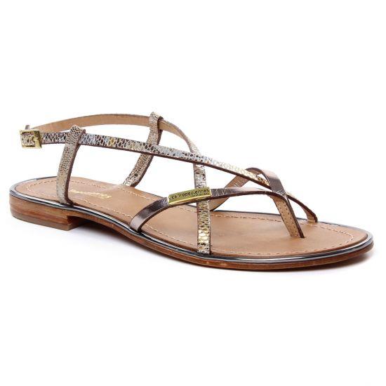 Nu Pieds Et Sandales Les Tropeziennes Monaco Beige Bronze, vue principale de la chaussure femme