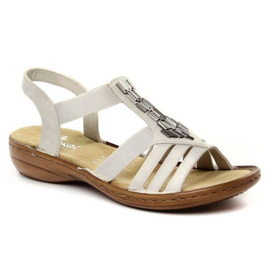 fbddfe8c4abf7e Nu Pieds Et Sandales Rieker 60800-80 Ice, vue principale de la chaussure  femme